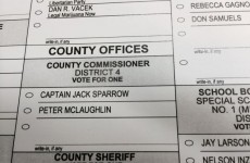 Someone named 'Captain Jack Sparrow' ran for election in the United States