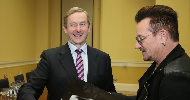 We all have the new U2 album, but Enda Kenny now has it on vinyl…