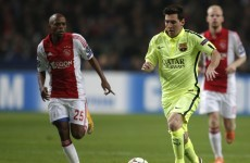 Lionel Messi equalled Raúl's Champions League scoring record tonight