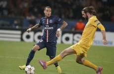 Cillian Sheridan couldn't stop PSG progressing to the Champions League last 16 tonight