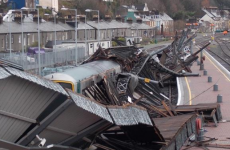 Cork train station canopy collapsed after poles snapped in gale force winds