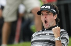 Bubba Watson holes out from bunker to force playoff and win $8.5 million