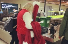 Santa Claus just went through baggage control at Dublin Airport