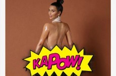 Kim Kardashian bared her (massive) bum for a photo shoot, and the internet has gone nuts