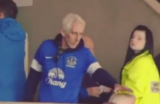 Is this nose-picking Everton fan the worst person in the world?
