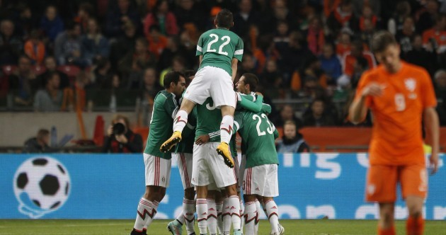 There were stunning goals (and one unbelievable miss) in Mexico's 3 – 2 win over Holland last night