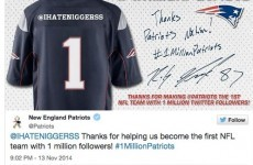 The Patriots just screwed up big time on Twitter after getting their one-millionth follower