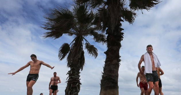 Ireland's International Rules squad head to the beach in Melbourne for recovery session