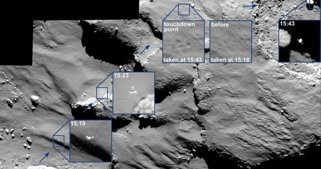 Check out these new hi-res pics of Philae's hairy 'bounce' landing