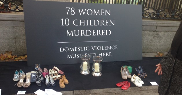 There's a pretty moving display outside Leinster House today. Here's what it's about…