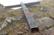 The 5-metre tall steel cross on Carrauntoohil has been cut down