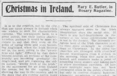 Poorhouses and midnight mass: What Christmas was like in 1901 Ireland