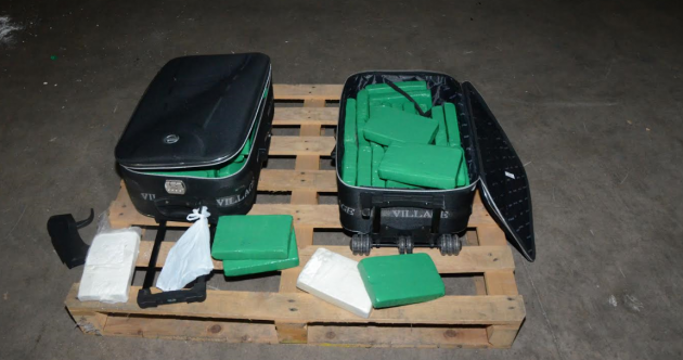 €3 million worth of cocaine has been seized — packed into two mid-size suitcases