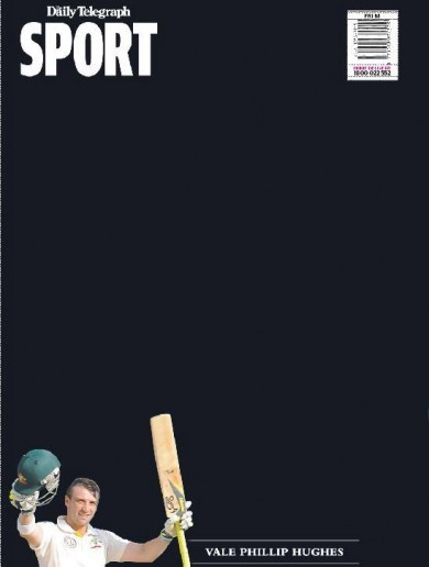 Australia's Daily Telegraph has retired tomorrow's back page in memory of Phil Hughes