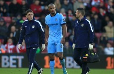 Vincent Kompany's injury adds to Manchester City's defensive problems