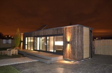 The shipping container house that was built in three days over the weekend