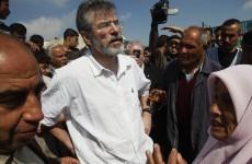 Israel won't let Gerry Adams into Gaza
