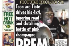 Tiote forced to apologise after being caught driving with open champagne bottle