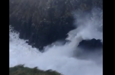 Footage of huge 'weatherbomb' waves captured in Donegal