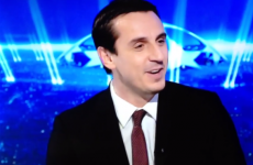 Gary Neville made an unfortunate choice of words on Sky last night
