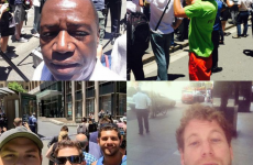 Yes, people are actually taking selfies at the Sydney siege