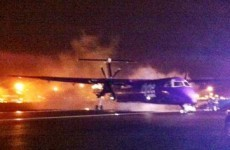 Plane makes emergency landing in Belfast after engine catches fire
