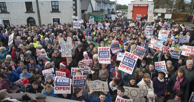 These Offaly protesters don't want the only bank in their town closed
