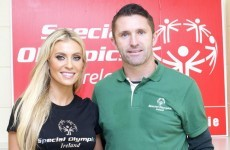 Robbie and Claudine Keane pay a surprise visit to the Irish Special Olympics team
