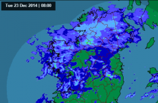 It's pretty wet and windy over most of Ireland right now