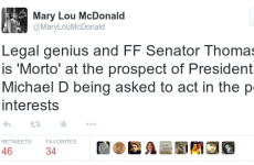 Mary Lou and this Fianna Fáil senator were throwing serious shade on Twitter last night