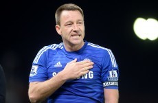 And the first goal of the St Stephen's Day football goes to … John Terry