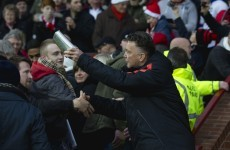 Louis van Gaal gave out Christmas presents to Man United fans yesterday