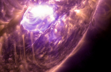 This solar flare put on a better show than any Christmas lights