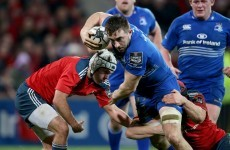 22-year-old Conan learning the ropes from Heaslip at Leinster