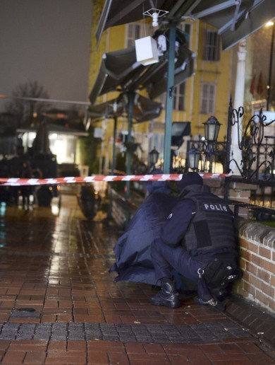 Suicide bomber kills herself and police officer in Istanbul attack