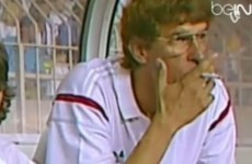 Arsene Wenger used to smoke cigarettes on the bench at Monaco