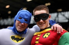 Look out Batman! Fancy-dress brawl erupts at darts contest
