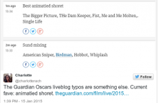 Hulianna MOore and benedict XCuebrvatch – The Guardian's hilarious Oscar typos