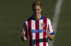 Fernando Torres has just scored his first goal for Atletico Madrid… this time round