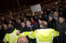 Rangers fans stage protests against club's board after game against Hearts abandoned