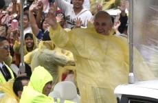 Papal volunteer dies in storm as Pope Francis visits Philippines