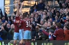 Three second half goals saw West Ham to victory over Hull this afternoon