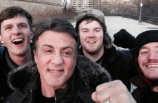 Tourists run up the Rocky steps, bump into Sylvester Stallone himself