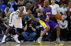 Kobe Bryant injured his right shoulder – so he came back on and played left-handed instead