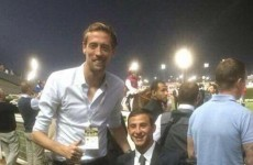 Peter Crouch shouldn't stand next to jockeys! It's the best sporting tweets of the week