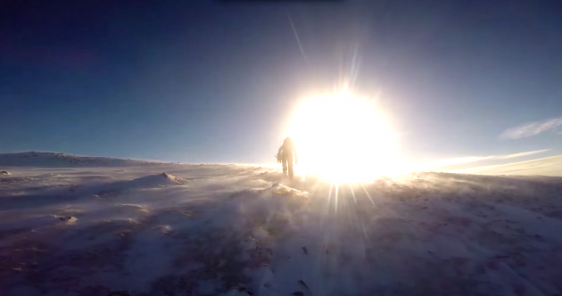 Want to know what it's like to climb Donegal's snowy mountains? Step this way…