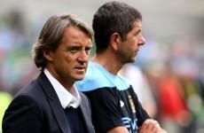 WATCH: Mancini reacts to Man City's Dublin success