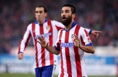 WTF? Atletico's Arda Turan throws his boot at the linesman…and gets a booking!