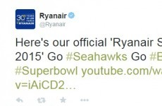 Hey, big spender: Ryanair made its very own Super Bowl ad