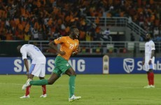 Yaya Toure almost broke the net as Ivory Coast progressed to the AFCON final today
